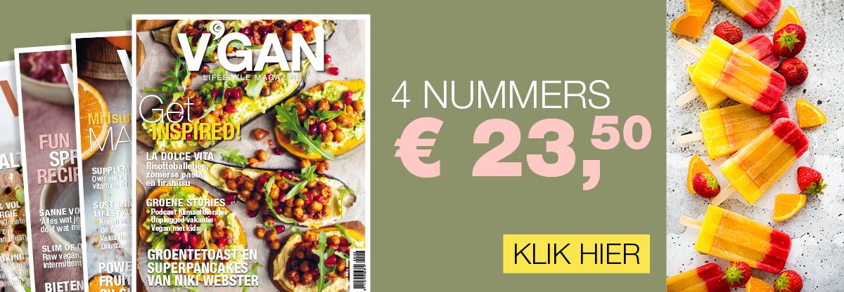 Voordelig abonnement V'GAN lifestyle magazine